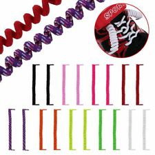New Elastic No Tie Curly Shoe Laces Coiler Elastic Twisty Unisex Fits Kid &Adult