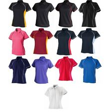 Ladies Women Finden Hales Piped Performance Polo Neck Shirt Collar Shirt Top