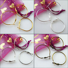 10 New Earrings Jewelry Lot Circle Basketball Wives Hoops Ear Findings 30mm