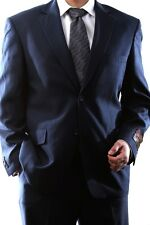 MENS SINGLE BREASTED 2 BUTTON NAVY DRESS SUIT, PL-60212N-203-NAV