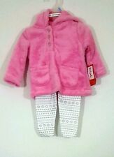 KIDGETS Baby Girl 2Pc Soft Pink Sweater Nordic Legging Set 0-3 3-6 6-9 Month NWT