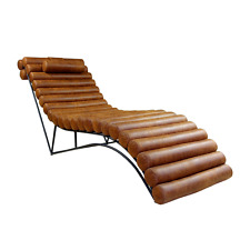 Exclusive chaise longue industrial style leather