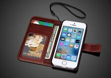 Magnetic Closure PU Leather Stand Flip Phone Cover Case For iPhone 5S(iPhone SE)