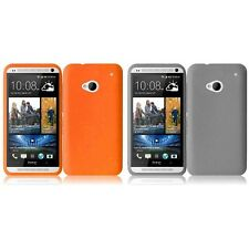 For HTC One M7 Silicone Skin Soft Rubber Case Phone Cover