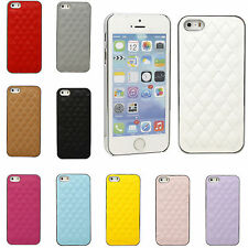 Luxury chrome Lambskin Leather Hard Back Case Cover Skin For Apple iPhone 5 5S