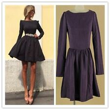 Great Long Sleeve Prom Gown Party Evening Cocktail Short Mini Women Dress NIGH