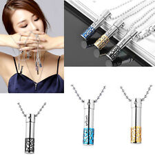 316L Stainless Steel Cremation  Urns Pendant Necklace For Ashes Gift Jewelry