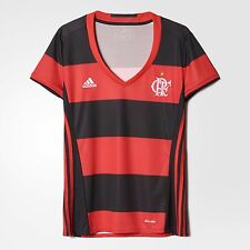 Flamengo Women's Home Soccer Football Maglia Jersey Shirt - 2016  Adidas Brazil