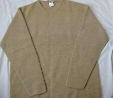 LACOSTE mens XXL tan beige Sahara alpaca wool blend crewneck sweater jumper