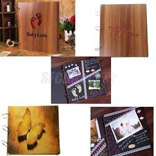 Creative DIY Scrapbook Vintage Photo Albums Wooden Picture Photograph Album
