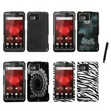 For Motorola Droid Bionic XT875 Design Snap-On Hard Case Phone Cover Stylus Pen