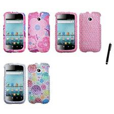 For Huawei Ascend 2 M865 Diamond Diamante Bling Rhinestone Case Cover Stylus Pen