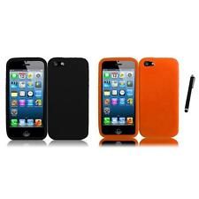 For Apple iPhone 5/5S/SE Silicone Skin Soft Rubber Case Phone Cover Stylus Pen