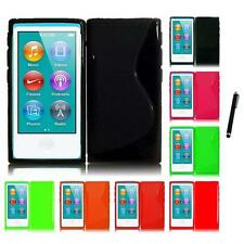 For Apple iPod Nano 7th Gen TPU Rubber Flexible Skin Case Phone Cover Stylus Pen