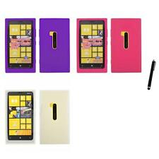 For Nokia Lumia 920 Silicone Skin Rubber Soft Case Phone Cover Stylus Pen