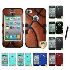 For Apple iPhone 4/4S Hybrid TUFF IMPACT Phone Case Hard Rugged Cover Stylus Pen