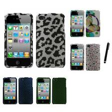 For Apple iPhone 4/4S Design Snap-On Hard Case Phone Skin Cover Stylus Pen