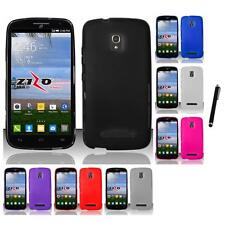 For Alcatel One Touch Pop Mega A995L TPU Rubber Case Phone Cover Stylus Pen