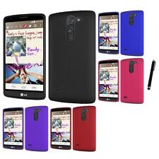 For LG G3 Stylus Rubberized Matte Snap-On Hard Case Phone Cover Stylus Pen