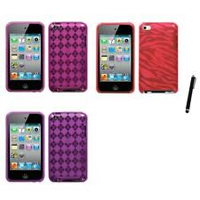 For Apple iPod Touch 4th Gen TPU Rubber Skin Flexible Case Cover Stylus Pen