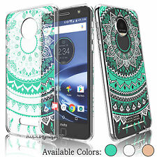 For Motorola Moto Z Play Droid Hybrid Shockproof TPU Bumper Clear Case Cover