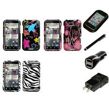 For Motorola Defy MB525 Design Snap-On Hard Case Phone Cover Charger Stylus