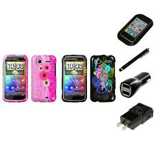 For HTC Sensation 4G Design Snap-On Hard Case Phone Cover Charger Stylus