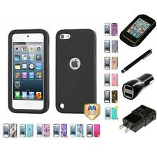 For Apple iPod Touch 5th 6th Gen Hard TUFF IMPACT Case Rugged Armor Charger