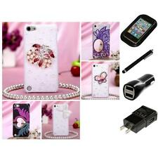 For iPod Touch 5th 6th Gen Diamante Diamond Bling Rhinestone Case Charger Stylus