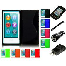 For Apple iPod Nano 7th Gen TPU Rubber Flexible Skin Case Phone Cover Charger