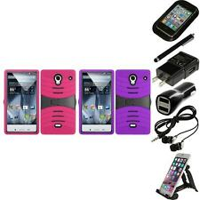 For Sharp Aquos Crystal Heavy Duty Protection Case Hard Cover Accessories