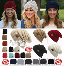 Fashion CC Beanie Womens Crochet Wool Winter Thick Ski Cap Hat Knitted Beanies