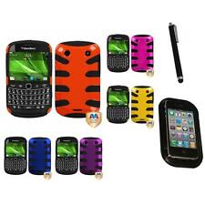 For BlackBerry Bold Touch 9900 9330 Hybrid Hard Soft Armor Case Mount+Pen