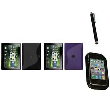 For BlackBerry Playbook TPU Rubber Skin Flexible Case Phone Cover Mount+Pen