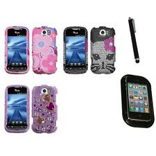 For HTC Mytouch 4G Slide Diamond Diamante Bling Rhinestone Case Cover Mount+Pen