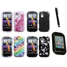 For HTC Amaze 4G Design Snap-On Hard Case Phone Cover Mount+Pen