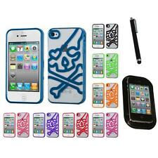 For Apple iPhone 4/4S TPU Hard Case Skin Phone Cover Mount+Pen