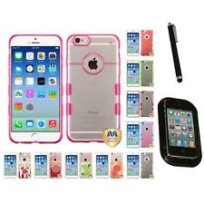 For Apple iPhone 6/6S [4.7] TPU Hard Case Skin Phone Cover Mount+Pen