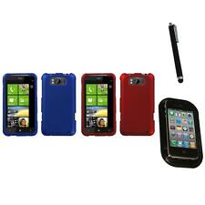For HTC Titan X310a Snap-On Hard Case Phone Skin Cover Accessory Mount+Pen