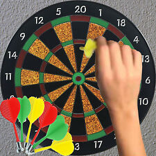 "16"" /18"" Magnetic Dartboard w/ 6 Darts Friends Family Game Play Set Kids Fun Toy"