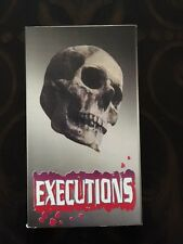 EXECUTIONS VHS MOVIE SHOCKING DEATH DOCUMENTARY VERY RARE HTF OOP 1995 PIF FILMS