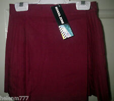 Girl 4 Sport Skirt Tennis Netball Skirt Maroon Permanent Pleat Schoolwear Sports