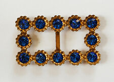 VINTAGE RHINESTONE SMALL TINY BELT BUCKLE SWAROVSKI • ASSORTED COLORS