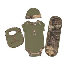 BROWNING BUCKMARK & CLOVER GREEN MOSSY OAK INFINITY CAMO BABY INFANT SET - 4 PC