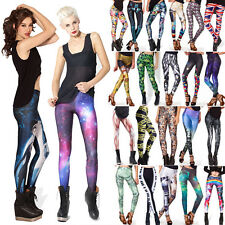 Sexy Womens Colorful Galaxy Print Leggings Skinny Yoga Gym Jeggings Pencil Pants