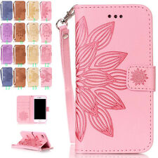 Retro Painted Leather Skin Flip Stand Wallet Cover Case For Apple iPhone Holster