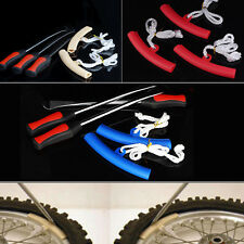 3X Tire Lever Tool Spoon Motorcycle Tire Iron Changing + 2X Wheel Rim Protector