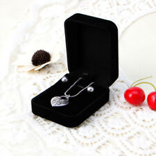 Fashion Velvet Engagement Wedding Necklace Pendant Jewelry Display Gift Boxes