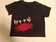 GYMBOREE Baby Boys 0-3 Month Navy Crab Shack Shirt Short Sleeve Top NWT