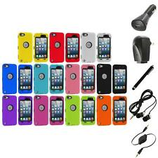 Deluxe Hybrid 3-Piece Case Cover+Protector+Accessories for iPod Touch 5th 5G